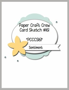 Paper Craft Crew Card Sketch 161. #papercraftcrew #cardsketch #papercrafts