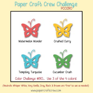 Paper Craft Crew Color Challenge 190. www.papercraftcrew.com #papercraftcrew